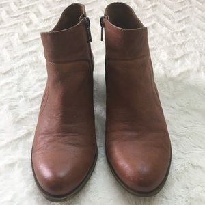 EUC Lucky Brand Brolley Tan Leather Booties